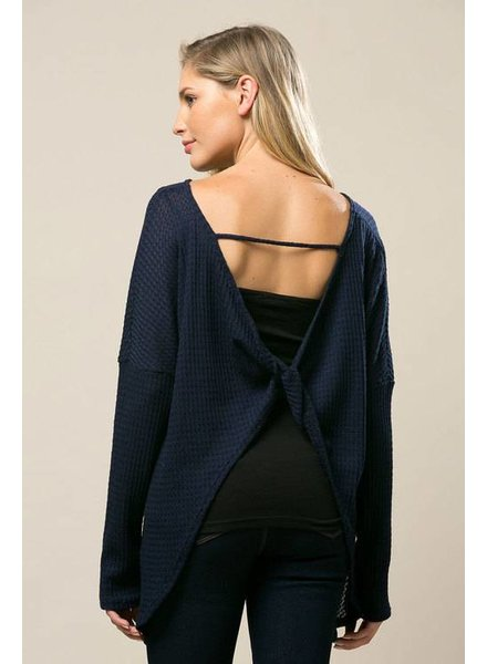 Thermal Knit Sweater in Midnight
