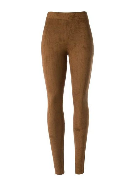 Suede Legging in Camel