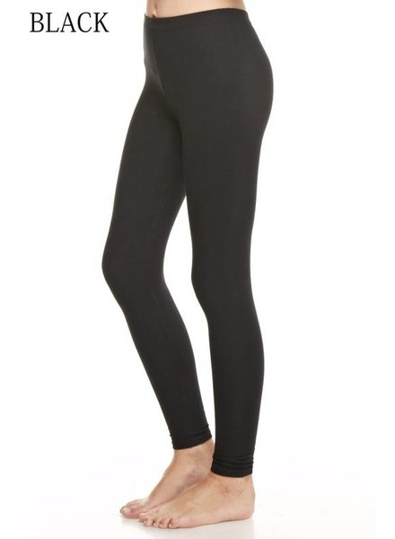 Solid Black Thick Legging