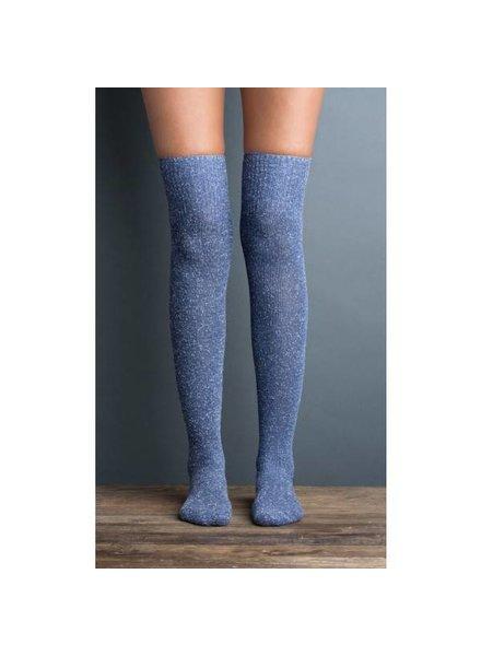 Snowfall Boot Sock in Bluebell