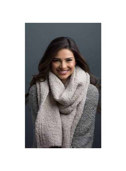 Bubbly Oversized Scarf in Latte