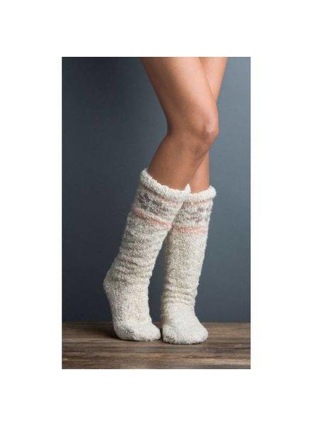 Snowflake Slub Sock Slipper in Barley