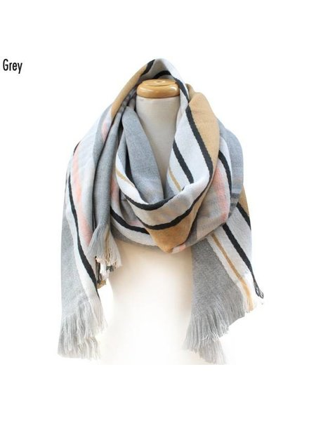 Mixed Stripe Scarf Various Colors