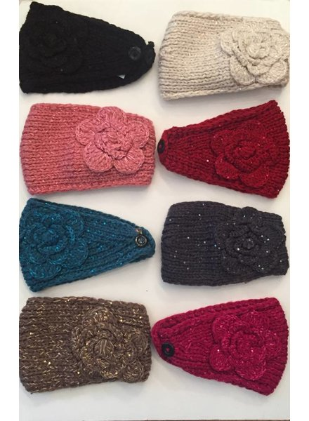 Flower Knit Head Wrap