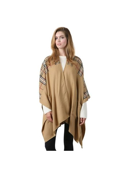Co Co International Pocket Poncho in Tan