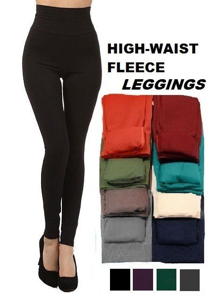 Tummy Control Fleece Legging in Black