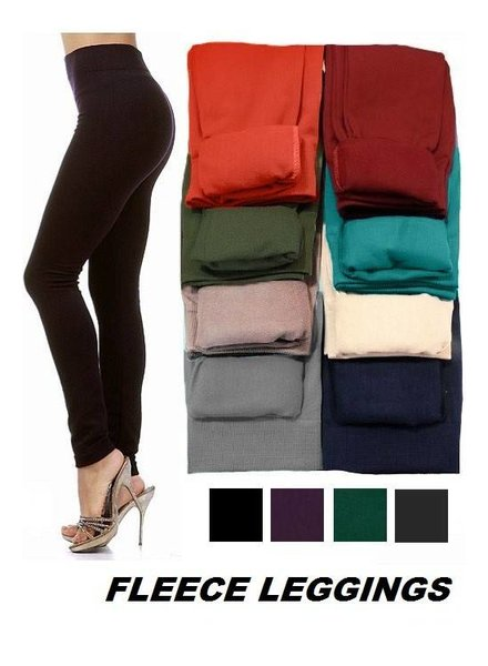 Fleece Leggings in Various Colors