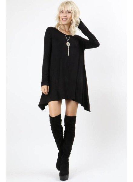 Long Sleeve Basic Top in Black
