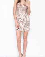 Sparkly Mini Dress in Rose Gold