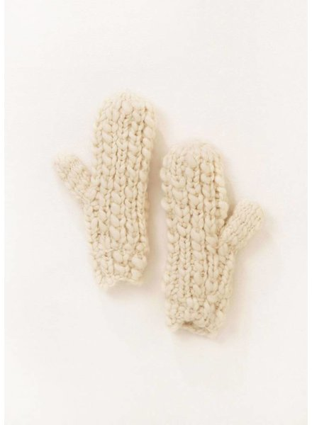 Popcorn Knit Mittens in Assorted Colors