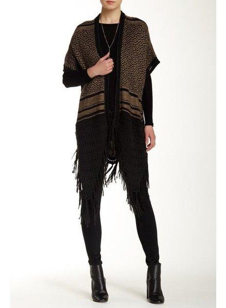 Crochet Knit Open Wrap Cardigan