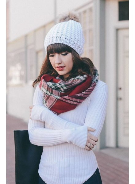 Textured Pom Beanie in Various Colors