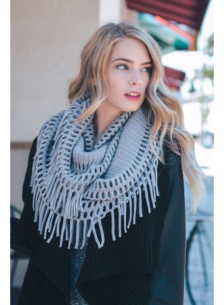 Tassel Infinity Scarf in Various Colors