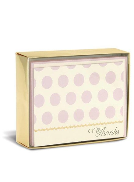 Blush Dots Folded Notes