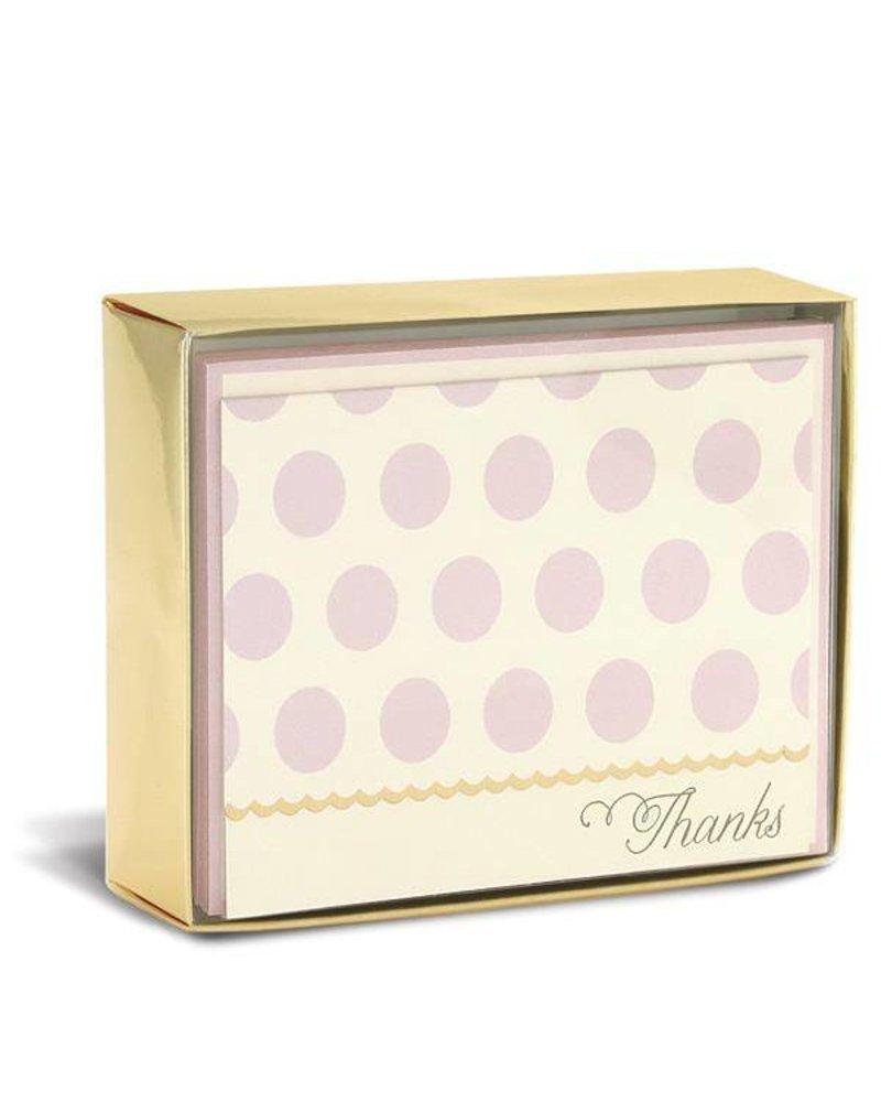 Blush Dots Folded Notes