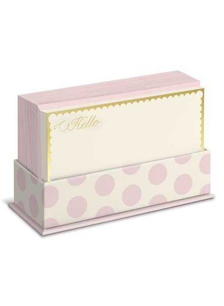 Graphique Blush Dots Flat Note