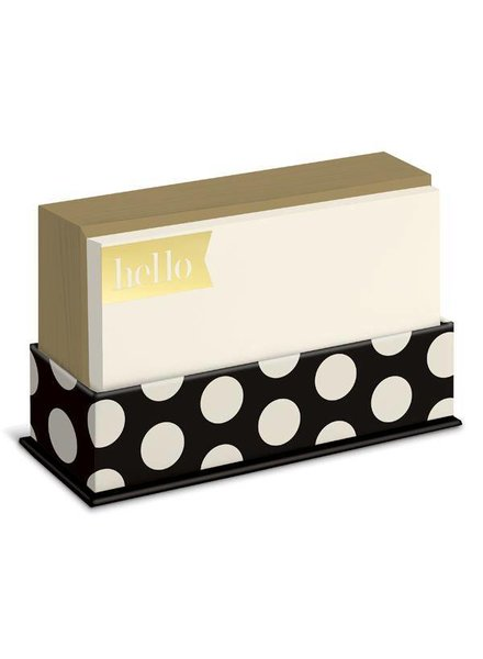 Graphique Black & Gold Flat Note