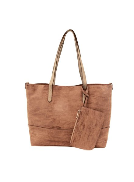 2 in 1 Tote in Brushed Whisky
