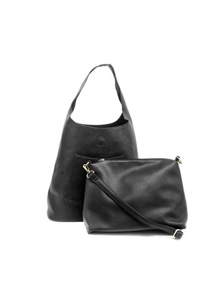 Slouchy Hobo Handbag in Black