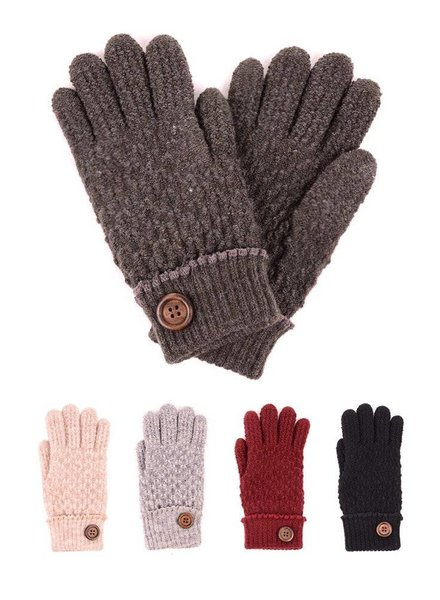 Fur Lined Gloves in Various Colors