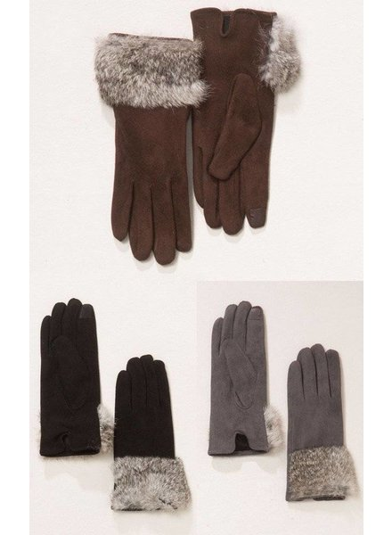 Suede Gloves in Various Colors