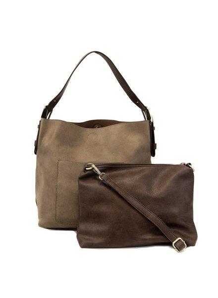 Hobo Handbag in Dark Flax