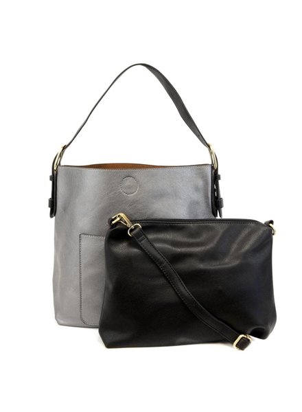 Hobo Handbag in Pewter