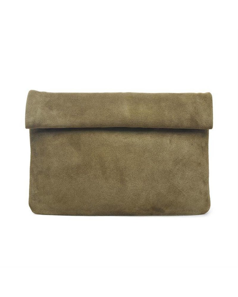 Suede Clutch in Various Colors