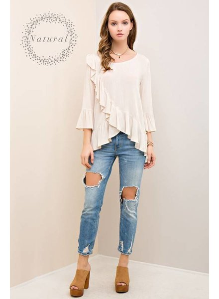 Solid Ruffle Top
