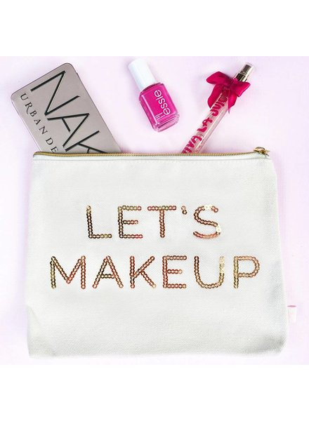 Sweet Water Decor Let's Makeup Makeup Bag