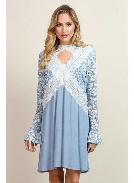 Lace Detailed Mini Dress