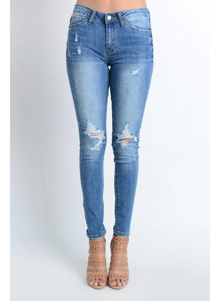 Kan Can Light Wash Distressed Jean