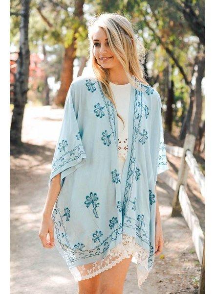 Lace Scallop Kimono