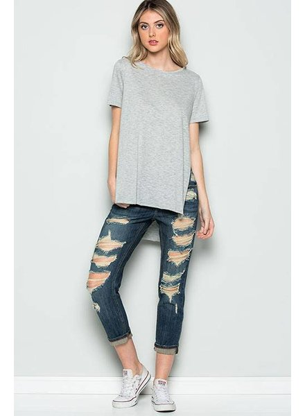 High Low Criss Cross Top