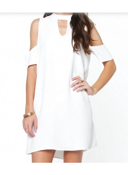 Mock Cold Shoulder Dress