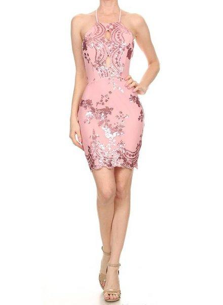 LA Sequin Mini Dress