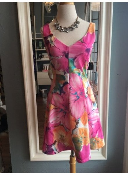 Genuine Floral Fit and Flare Dress