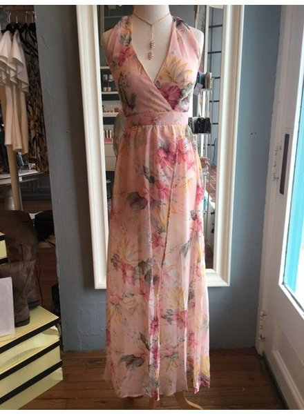 Genuine Tropical Print Maxi Dress