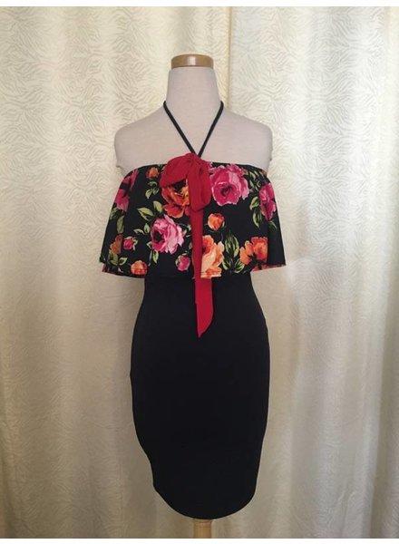 DL NY Inc Navy Floral Dress