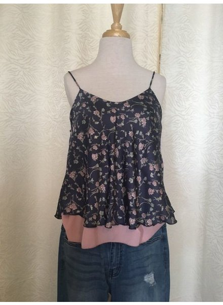 DL NY Inc Blue Floral Top