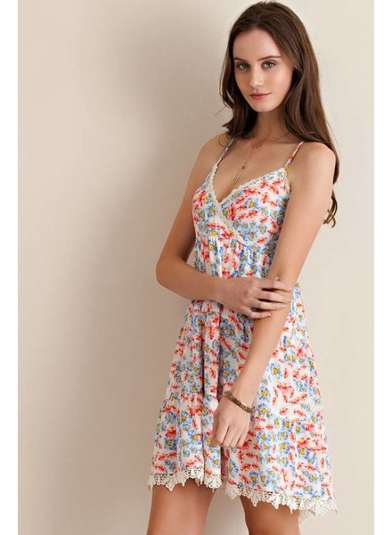 Daisy Print Mini Dress