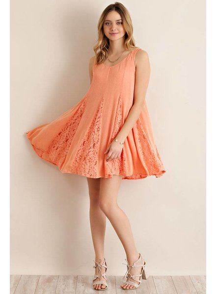Entro Solid Lace Dress