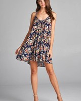Aakaa Floral Strappy Dress