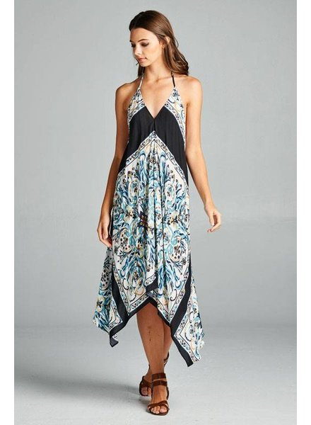 Aakaa Printed Cover Up Dress