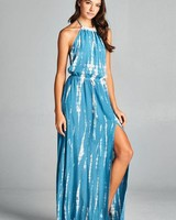 Aakaa High Neck Tie Dye Maxi