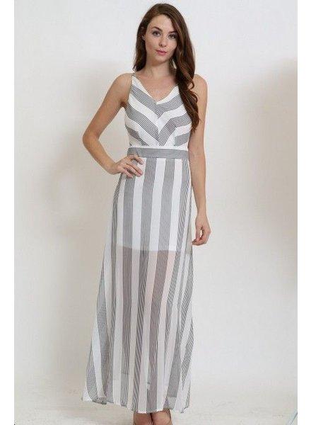 1 Funky Striped Sheer Maxi