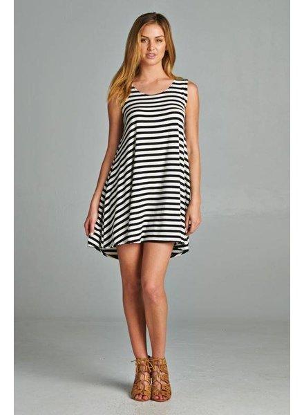 Route 3 Fashion Striped Swing Dress