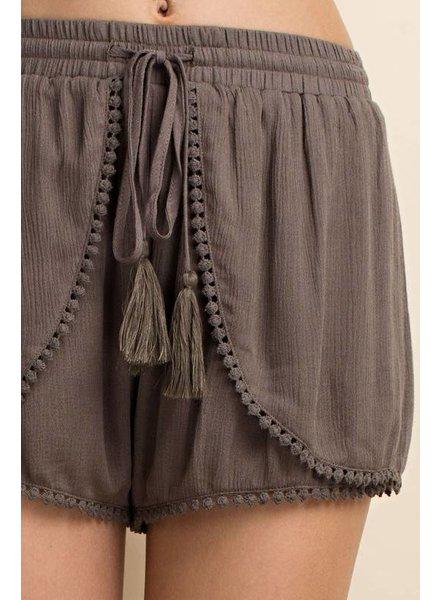 L Love Tulip Tassel Shorts