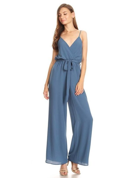 Shop 17 Solid Sleeveless Jumpsuit