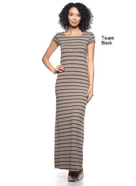 Capella Apparel Stripe Basic Maxi